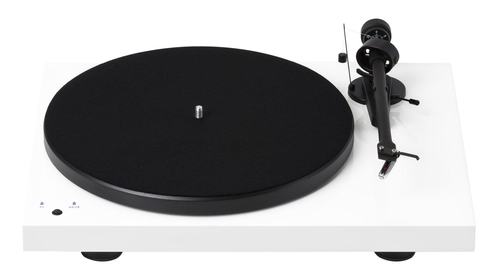 debut recordmaster turntable white