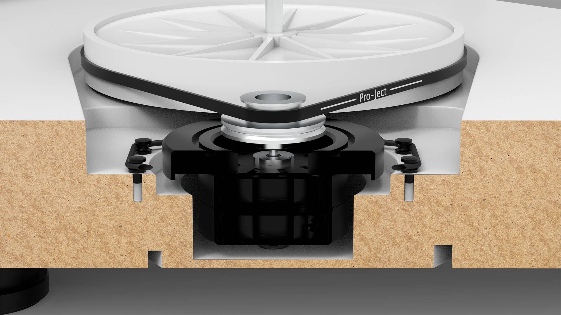 X2 Motor & Sub-Platter Cross-Section